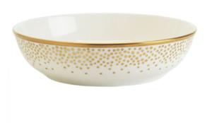 Gold dots soup bowl