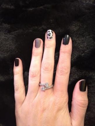 MANI MONDAY- BLACK LEOPARD
